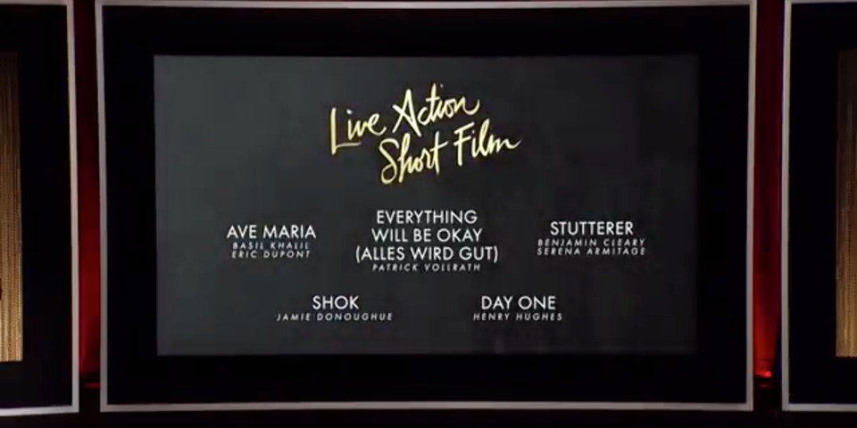 Live Action Short Film Oscars Nomination 2016