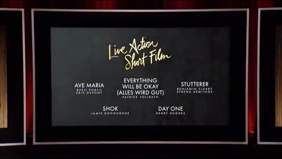 Live Action Short Film Oscars Nomination 2016